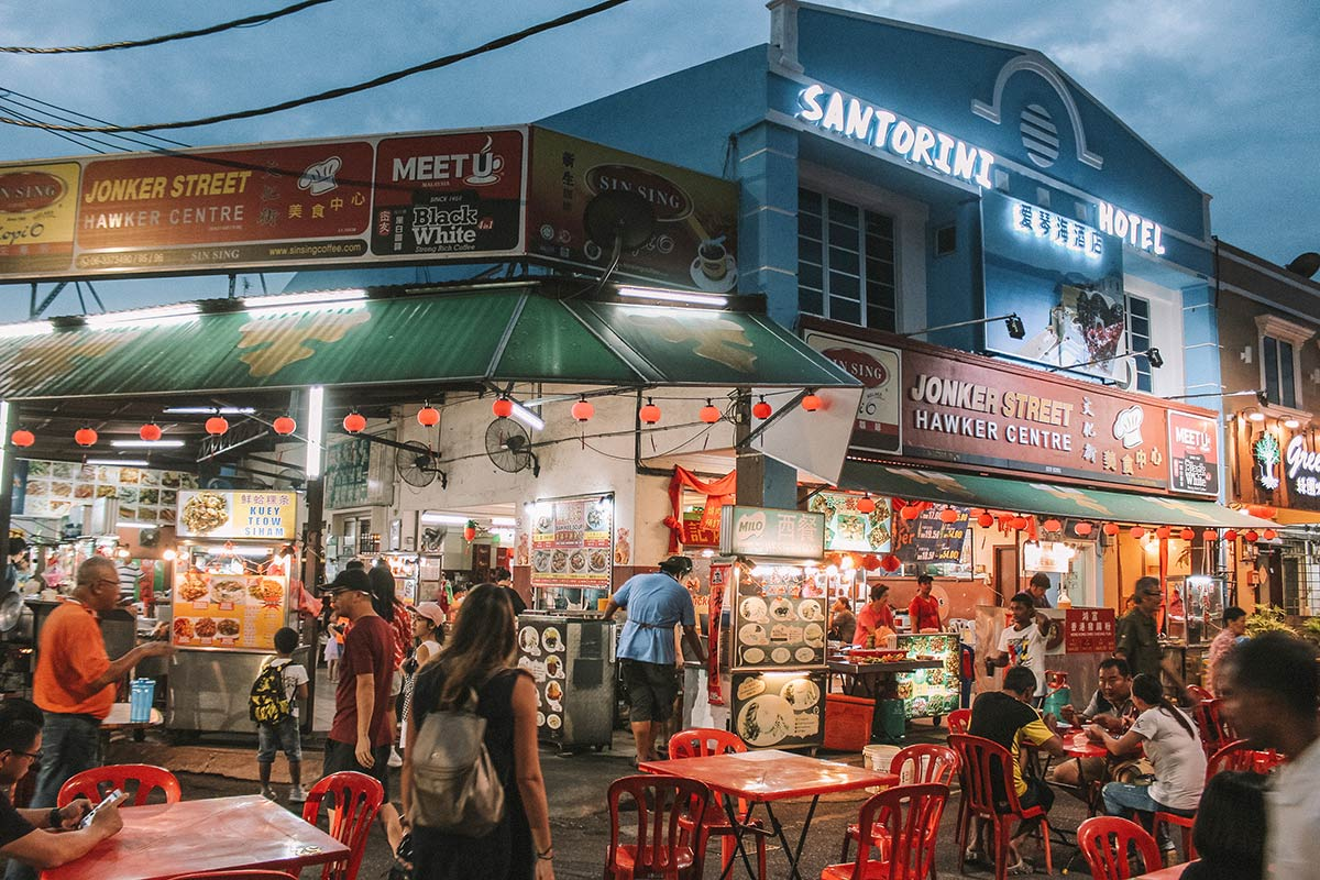Top things to do in Melaka / Malacca Malaysia | blog post | Jonker Street Hawker Centre