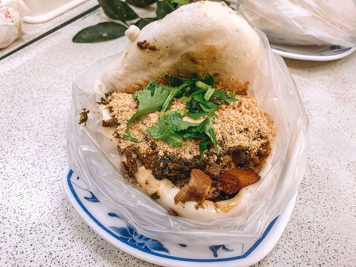 Pork belly gua bao Taipei Taiwan