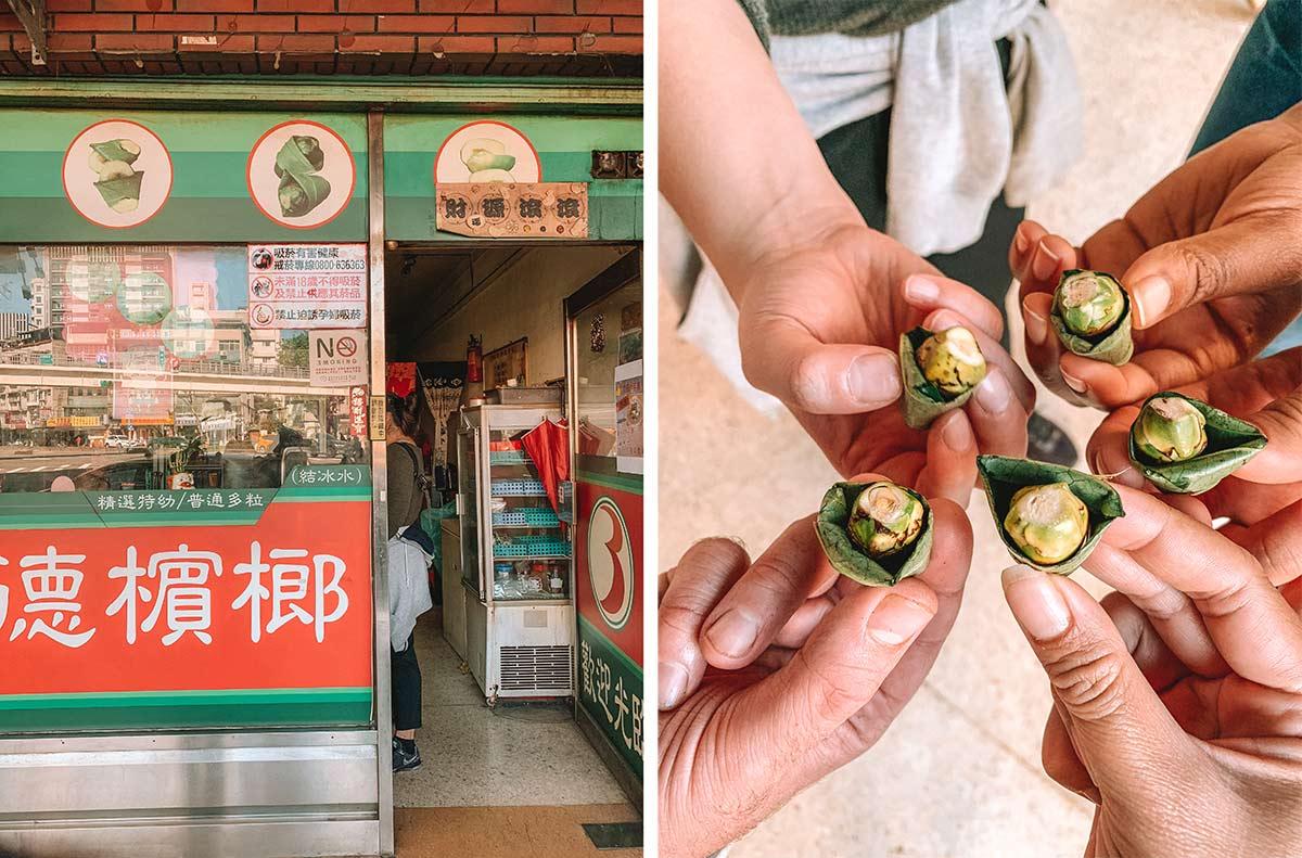 Betel nut Taipei Taiwan