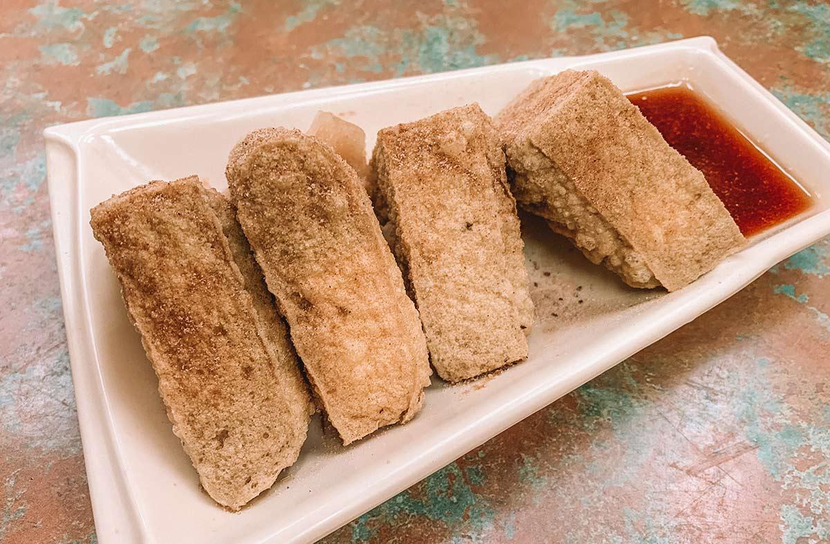 Deep fried Stinky Tofu in Taipei, Taiwan