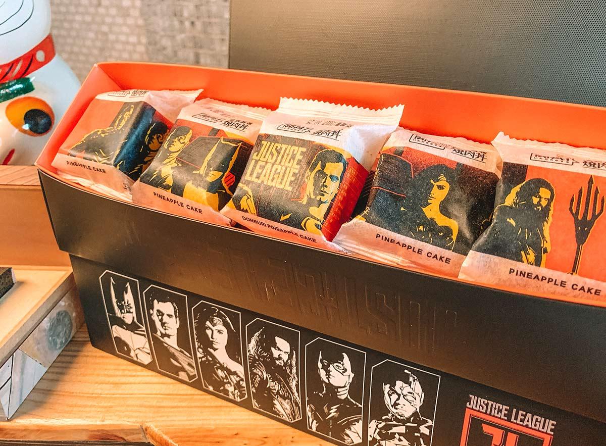 DC Comics packaging on pineapple cakes, Taipei
