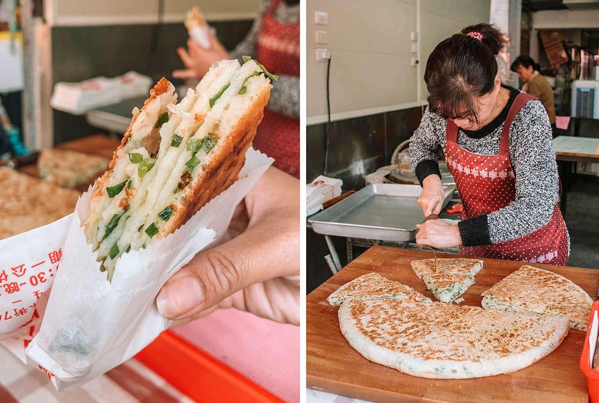 Tasting Taiwan on a Taipei Eats food tour blog post - Thousand layer scallion big bread