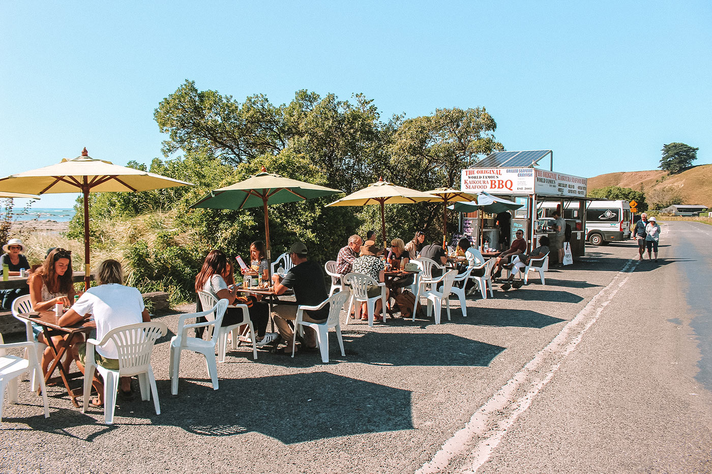 Things to do in Kaikoura, New Zealand blog post | seafood BBQ