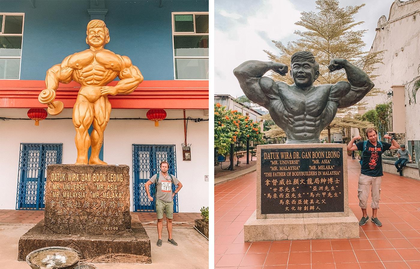 Top things to do in Melaka / Malacca Malaysia | blog post | Melaka Bodybuilding Statues - Datuk Wira Dr. Gan Boon Leong