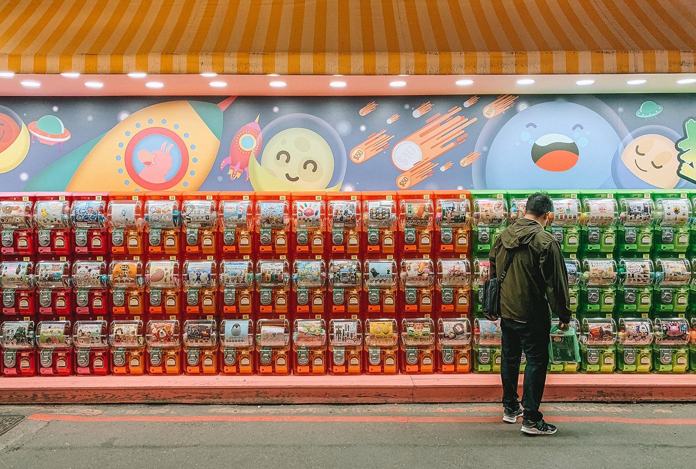 Things to do in Ximending in Taipei, Taiwan blog post   gachapon