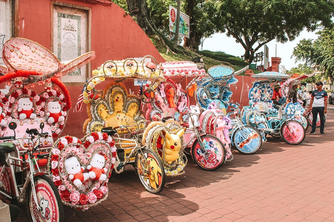 Top things to do in Melaka / Malacca Malaysia | blog post | cyclo trishaw
