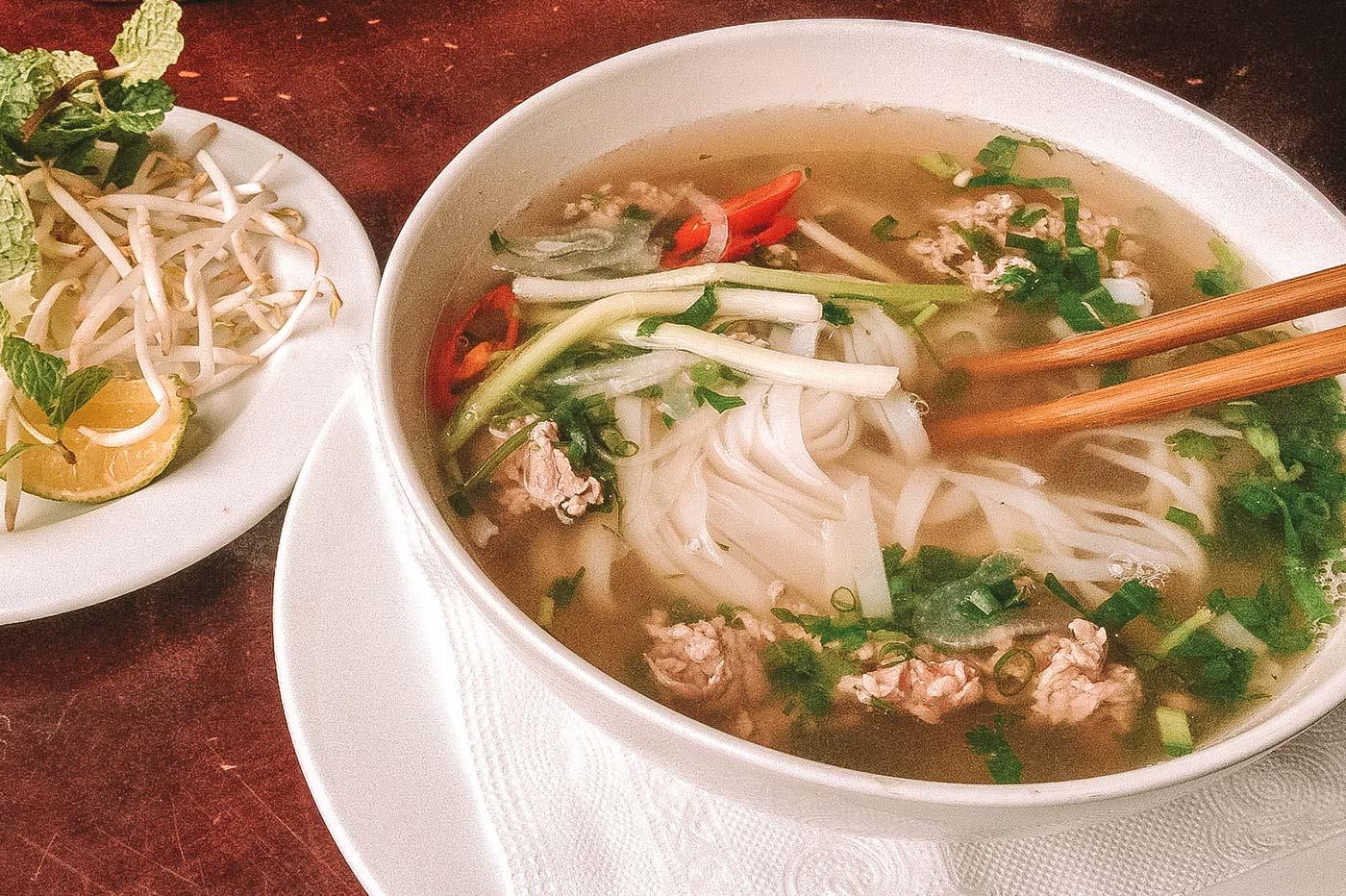 Pho noodle soup Hanoi