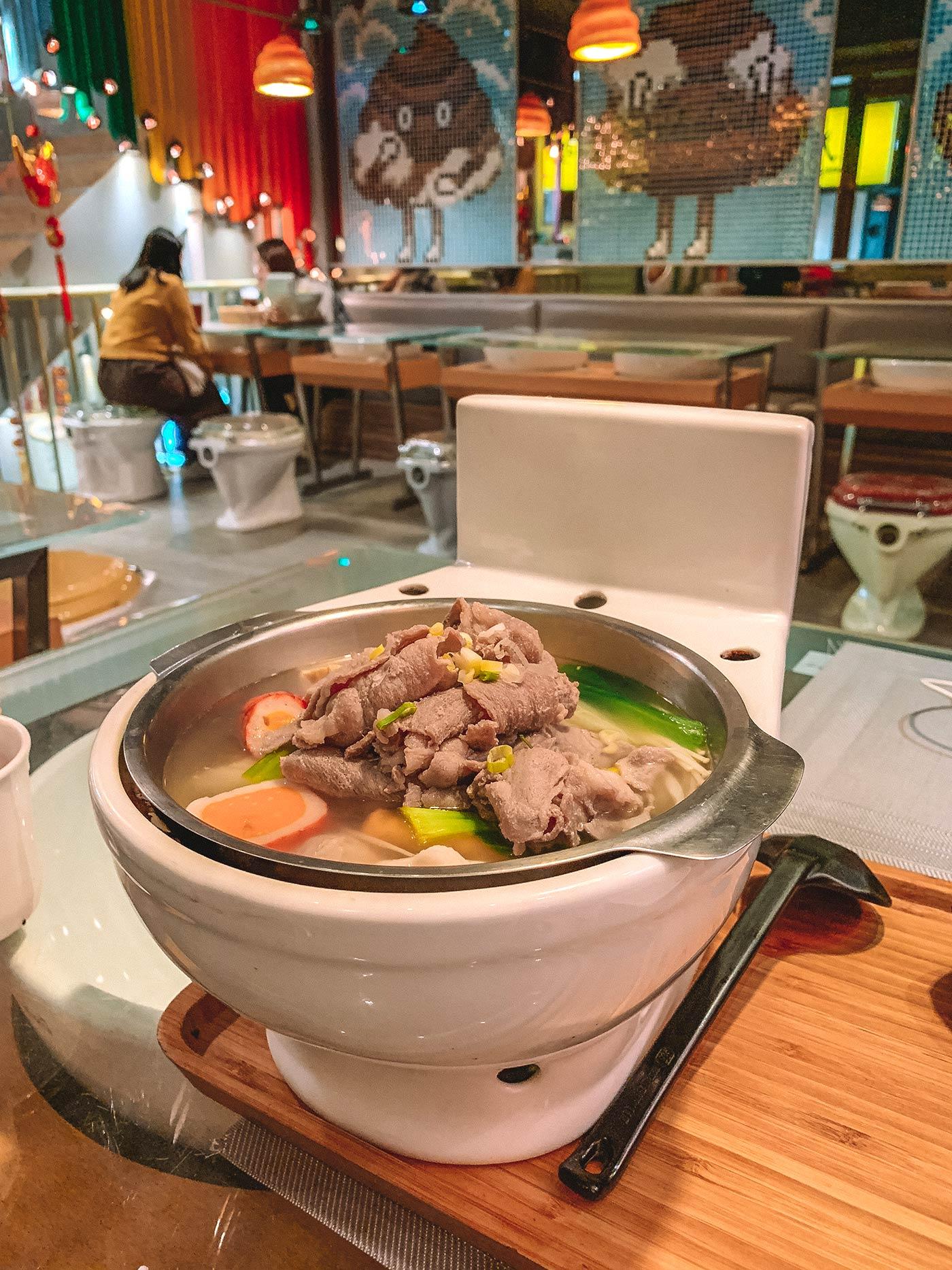 Modern Toilet restaurant, Ximending, Taipei, Taiwan - themed restaurant blog