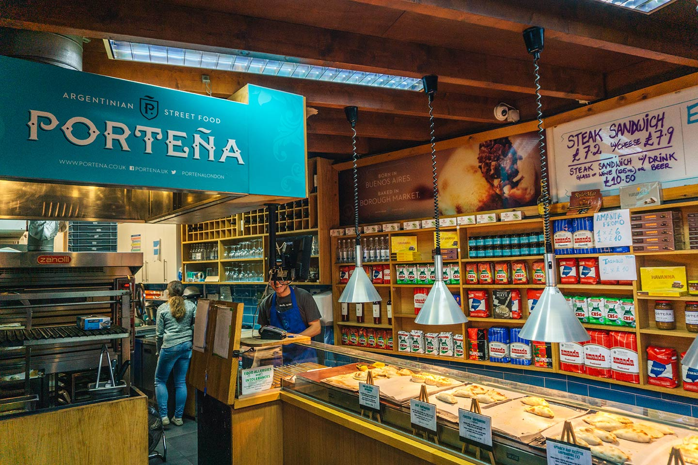 portena shop at Borough market