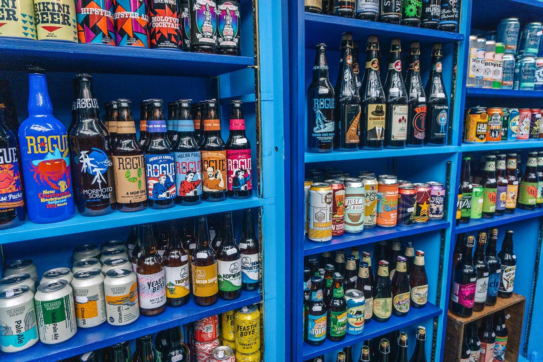 craft beer shop at Borough market