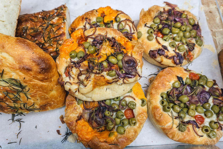 olive bread at Borough market