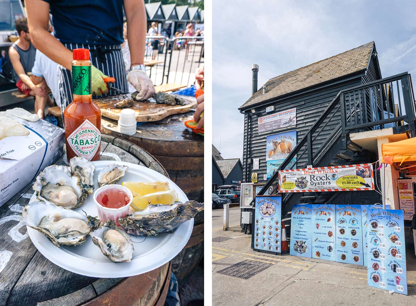 whitstable oysters | Things to do in Whitstable - a day trip from London blog post