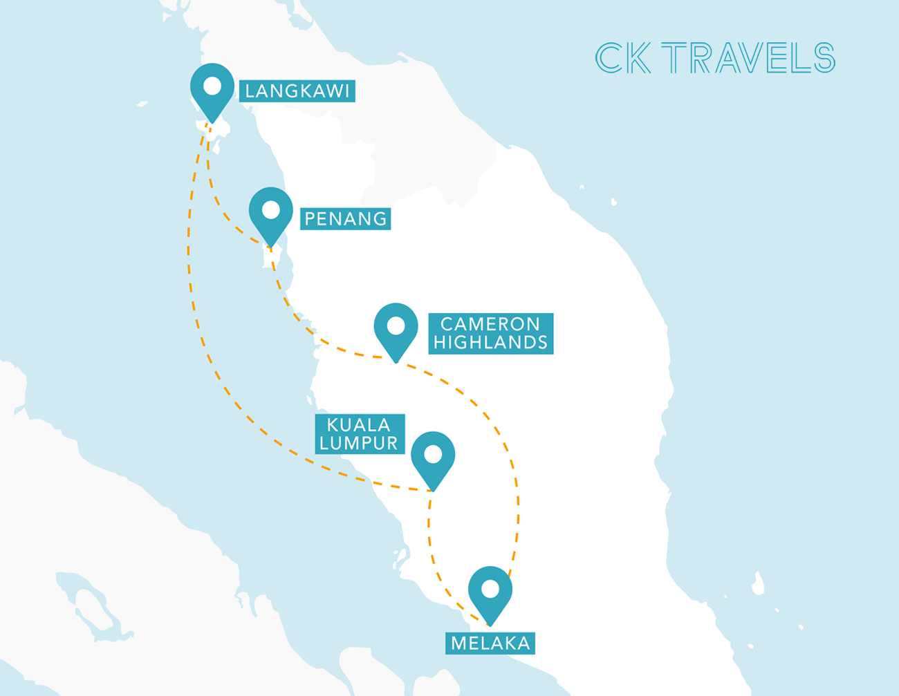 The best 2 week Malaysia itinerary and travel guide map