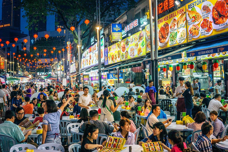 Jalan Alor Street Kuala Lumpur  - street food outdoor dining