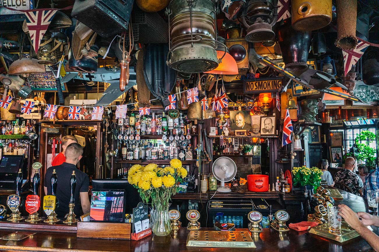 The Churchill Arms - the most colourful pub in London