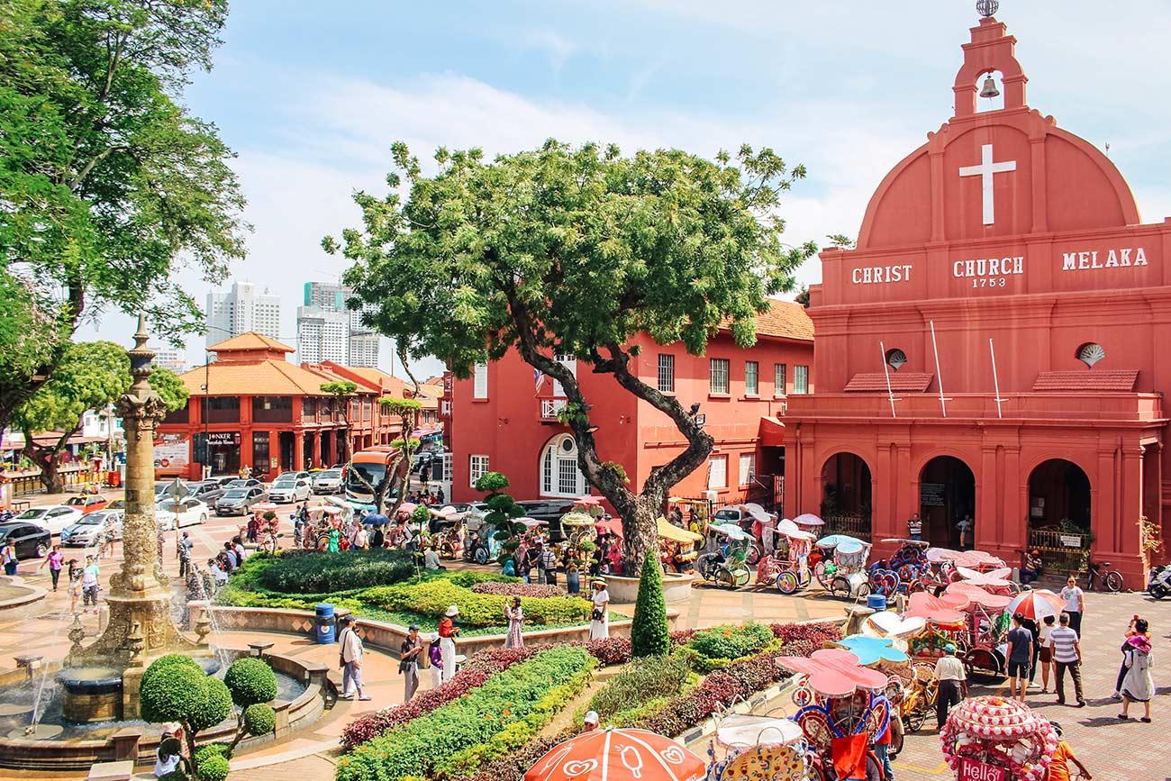 Melaka Red Square and christ church