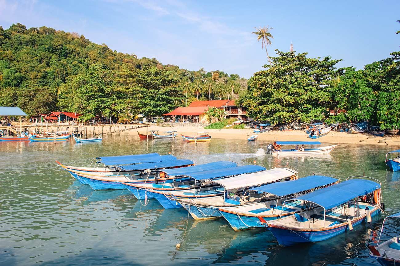 Langkawi tourist boats   2 week Malaysia itinerary