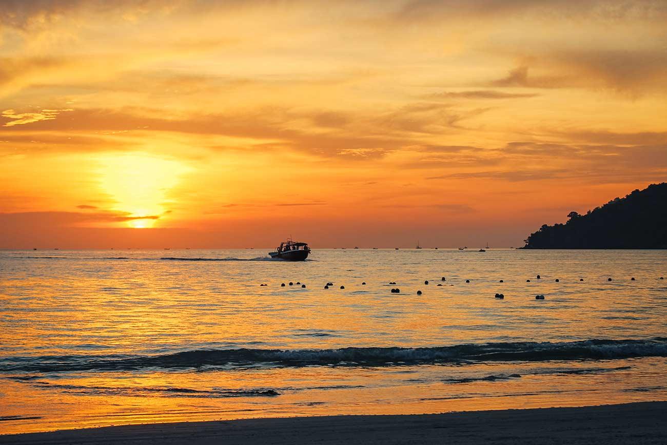 sunset in Langkawi Malaysia
