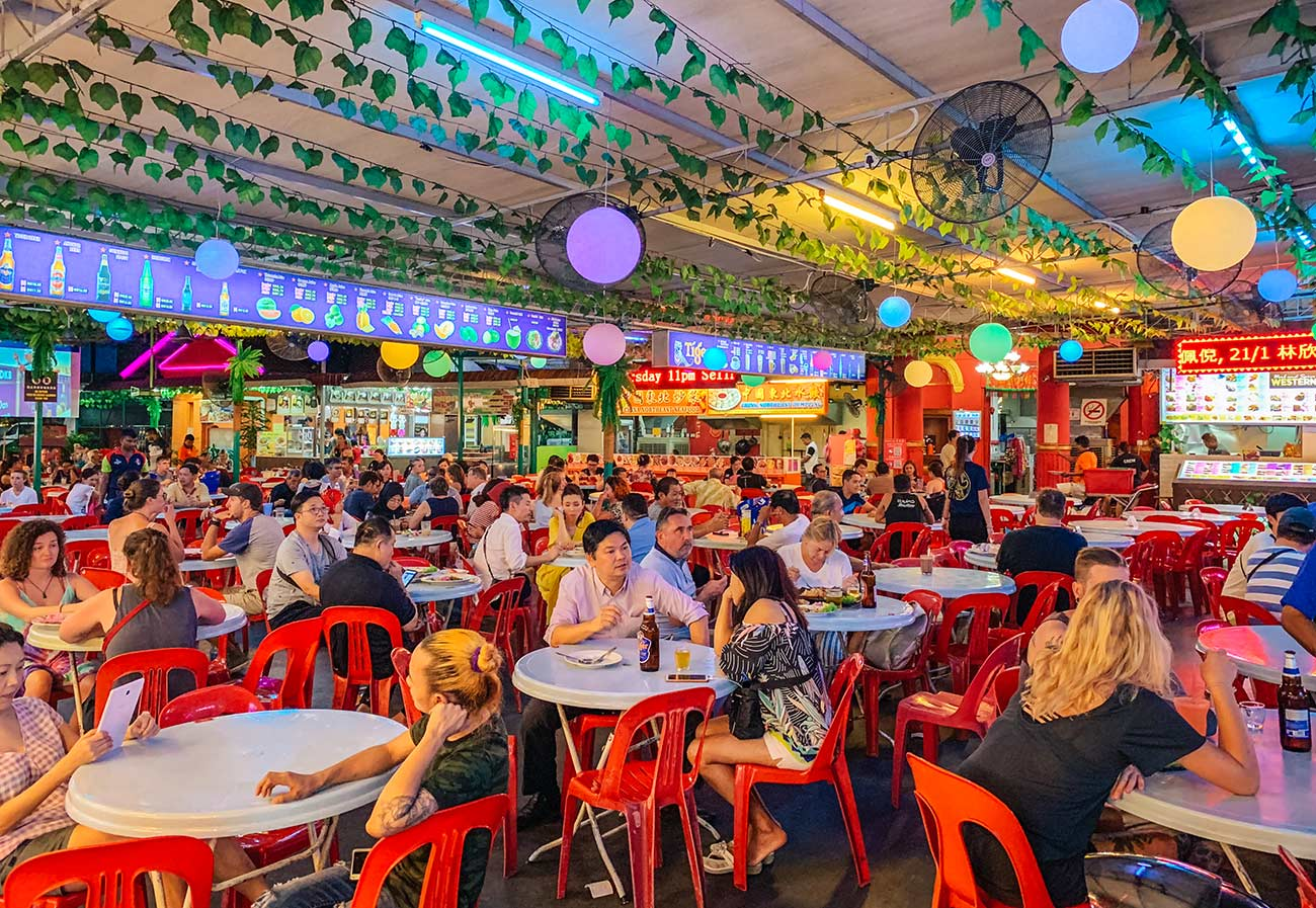Red Garden Food Paradise Hawker Centre Georgetown Penang - street food court