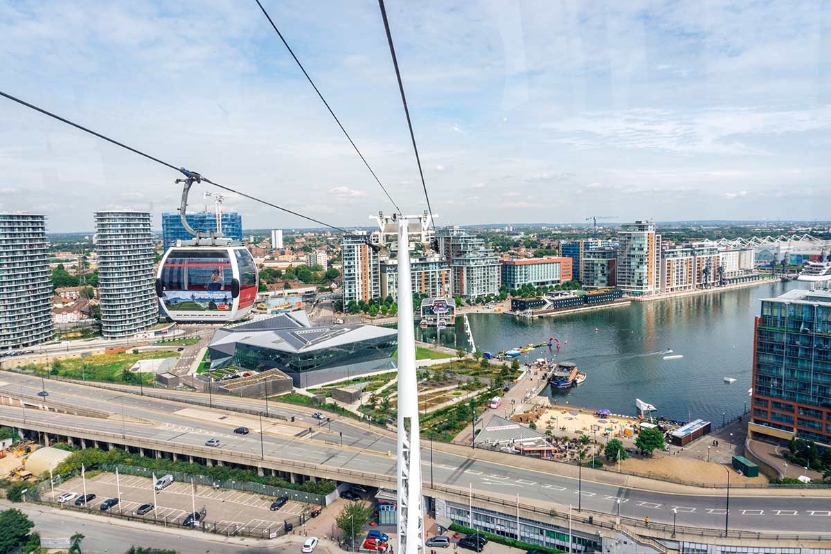 Emirates Air Line cable car East London - travel guide