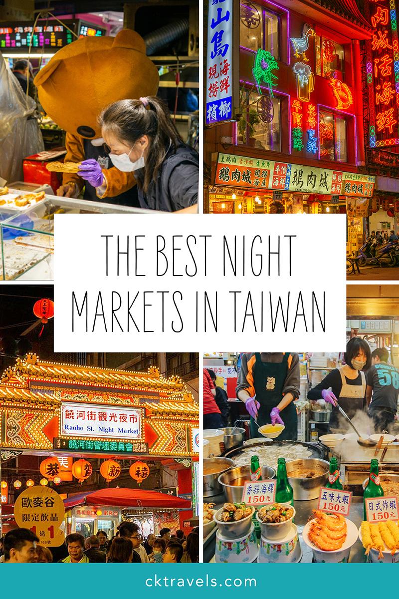 Best night markets in Taiwan