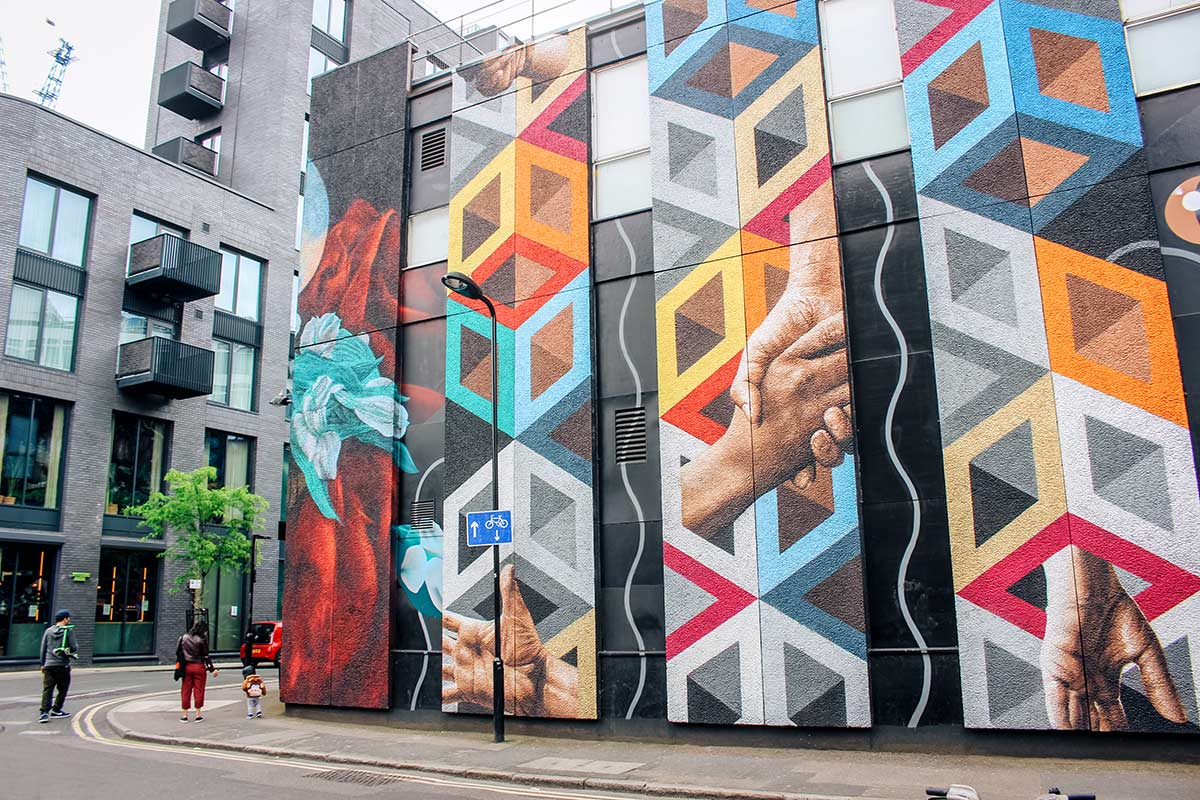 Shoreditch street art in east London guide - with map