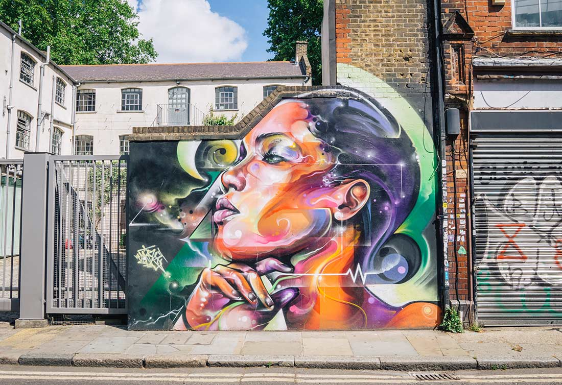 Fashion Street street art