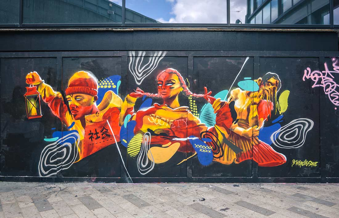 Holywell Lane - Shoreditch street art in east London guide - with map