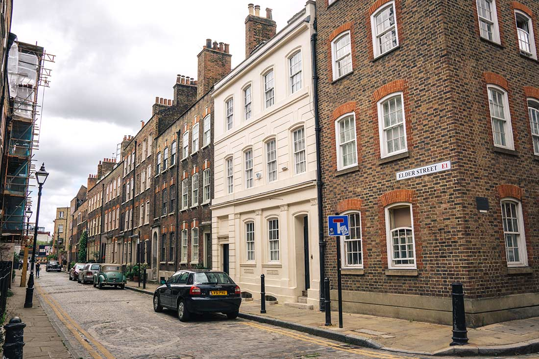 Elder Street Shoreditch, east london