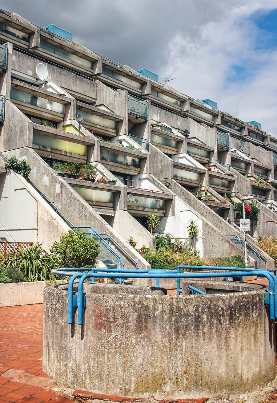 Rowley Way Brutalist Estate in London - visiting the Alexandra & Ainsworth Estate