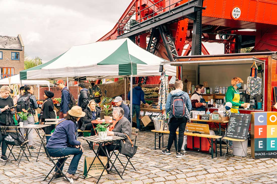 Wapping Docklands Market  Copyright CK Travels