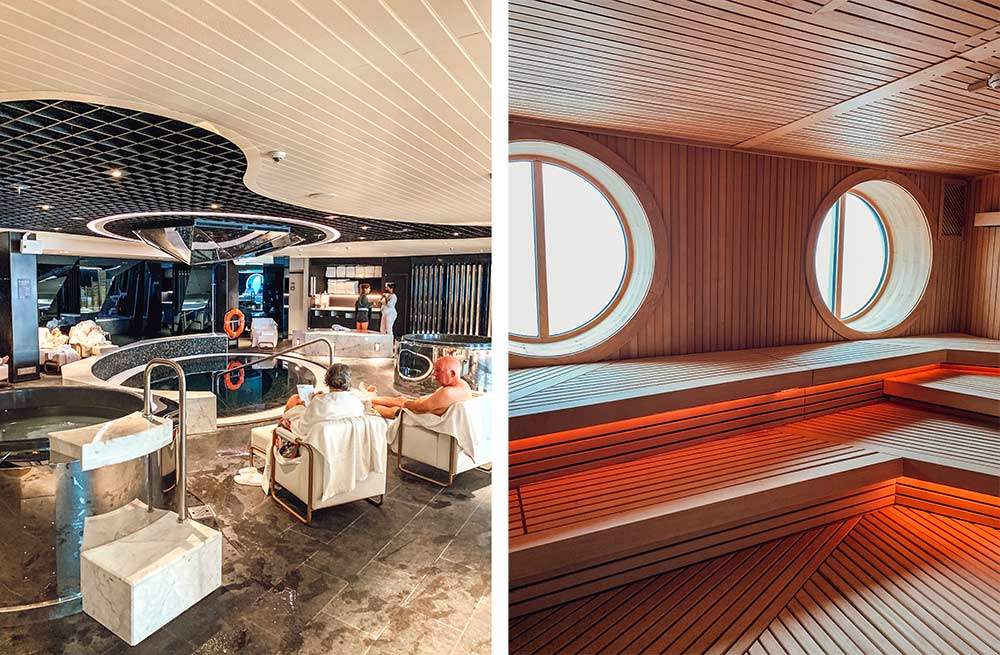 Redemption spa onboard Virgin Voyages Scarlet Lady cruise ship