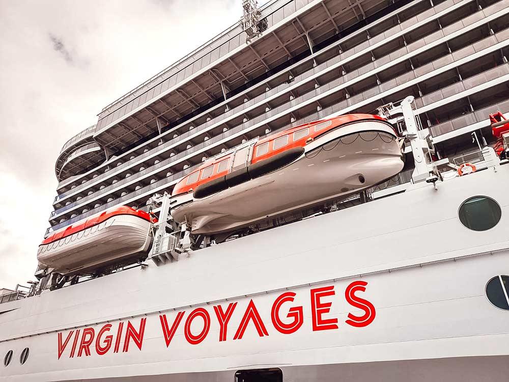 Virgin Voyages Scarlet Lady cruise ship exterior