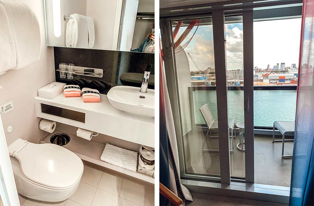 Virgin Voyages Scarlet Lady cruise ship sea terrace cabin room