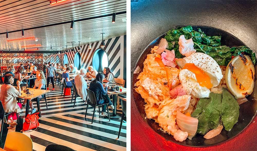 Razzle Dazzle restaurant onboard Virgin Voyages Scarlet Lady cruise ship
